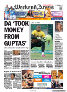 WeekendArgus-27January2013-Page1